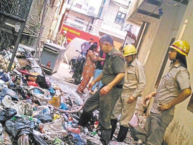 Fire accident,West Patel Nagar,File department