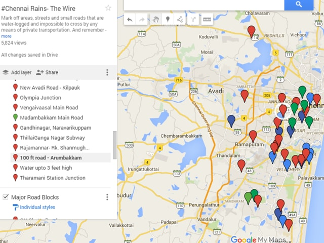 Living in Chennai Use this map to avoid waterlogged areas tech