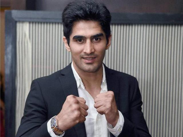 Star Indian boxer Vijender Singh.