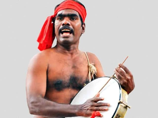File photo of Tamil Nadu folk singer S Kovan.