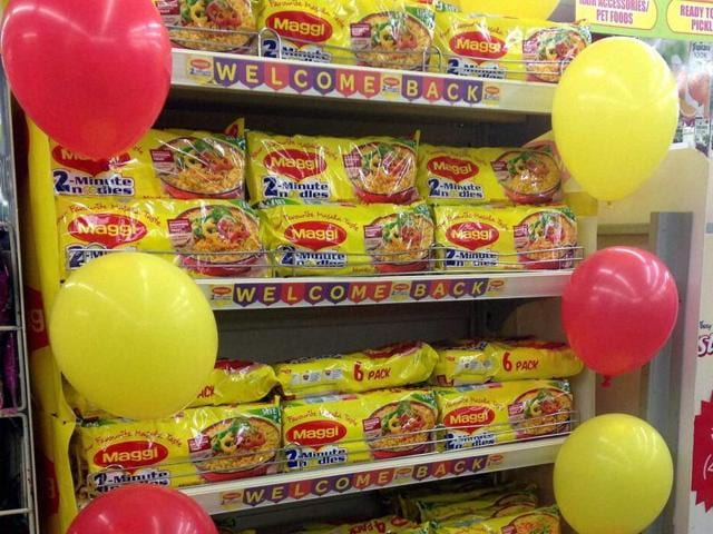 Nestle's Maggi noodles made a comeback in many stores in the state, despite a blanket ban imposed on its production as well as on the marketing and sale of the product.