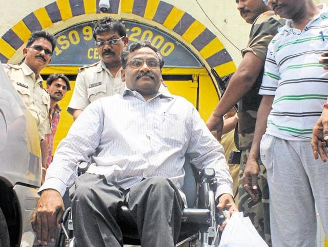 The English professor from Ram Lal Anand College is undergoing treatment for multiple problems of the heart, spinal cord, kidney and left shoulder, which became totally dysfunctional while in prison. (File photo)