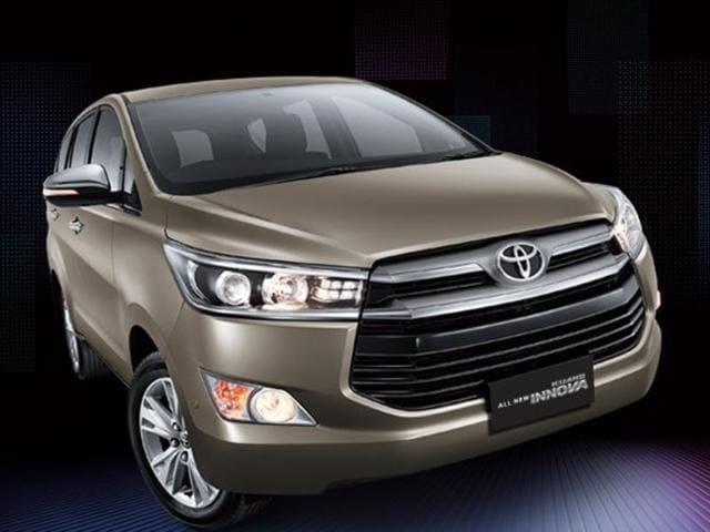 The new facia of Toyota Innova looks more aggressive