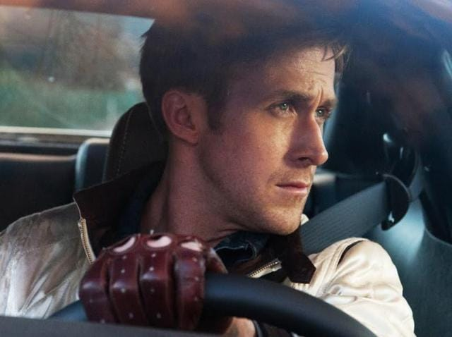 Ryan Gosling in a still from another neo-noir, Drive.