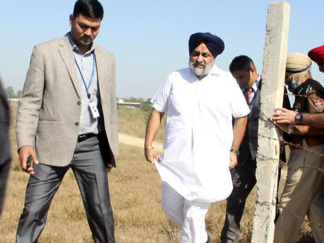 Along with a battery of senior police officers, he spent more than 90 minutes at the proposed rally site in Bathinda.