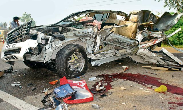 Two Thapar University students were killed when their SUV rammed into a stationary truck on the night of September 27, 2010, near Liberty Chowk in Rajpura.