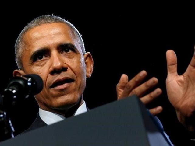 US President Barack Obama gestures during a press conference following the G20 summit in Antalya.
