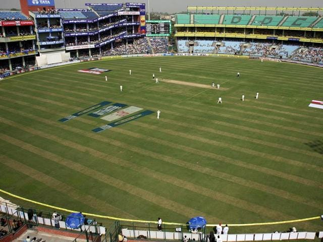 A file photo of an India vs Australia Test match being played at Delhi's Feroz Shah Kotla stadium.