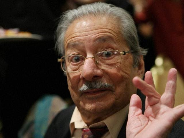 File photo of veteran actor Saeed Jaffrey who passed away on Sunday at the age of 86.