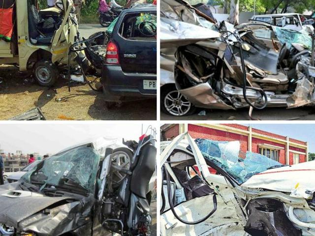 In a majority of the accident cases, trucks, buses, loaded jeeps and two-wheelers are involved, say cops.