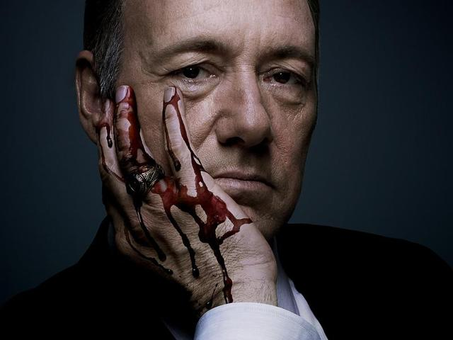 House of Cards deals primarily with themes of ruthless pragmatism, manipulation and power in the White House and stars Hollywood stalwarts Kevin Spacey and Robin Wright.