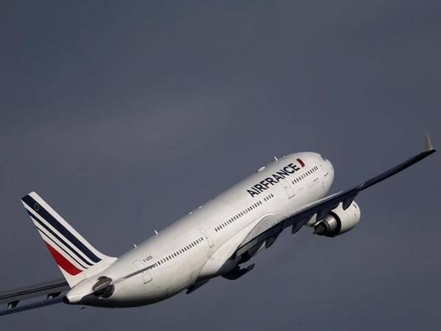 File photo of an Air France Airbus A320 aircraft taking off from the Charles de Gaulle International Airport in Roissy, near Paris. Two flights bound for Paris were diverted after reports of bomb threats emerged on Tuesday.