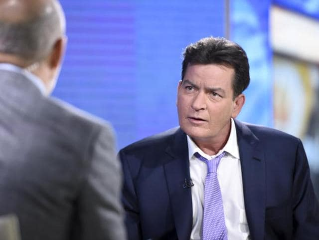 Former Two and a Half Men star Charlie Sheen is interviewed on NBC's Today in New York. In the interview, the 50-year-old Sheen said he tested positive four years ago for the virus that causes AIDS.