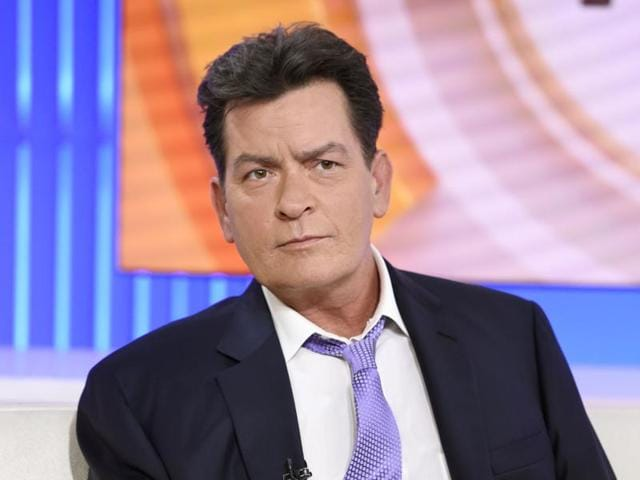Actor Charlie Sheen during NBC's Today in New York where he announced he tested positive four years ago for the virus that causes AIDS.