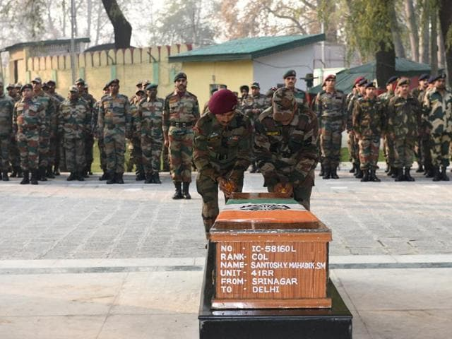 The 39-year-old colonel, a resident of Maharashtra, who was the Commanding Officer of 41 Rashtriya Rifles, was critically injured during an operation in the Haji Naka forest area of Kupwara near the LoC in Kashmir on November 17.