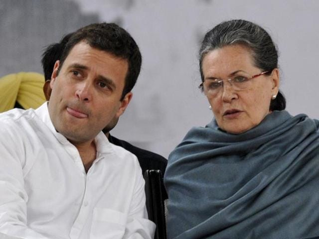 Congress president Sonia Gandhi with party's vice-president Rahul Gandhi.