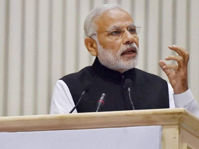 "PM Narendra Modi said that the terror attack in Paris was a ""grim reminder"" of terrorists' adaptability."
