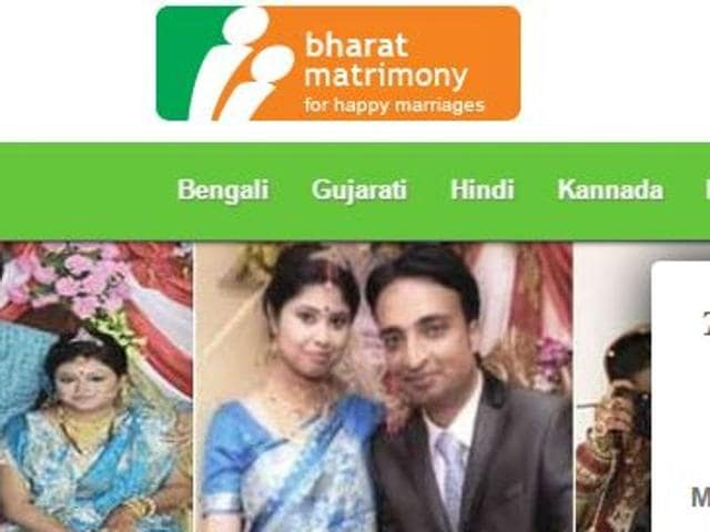 A screengrab of the Bharatmatrimony website. Bharatmatrimony is the biggest matrimonial website with 1.4 million profiles followed by shaadi.com that claims to have 1.2 million users.