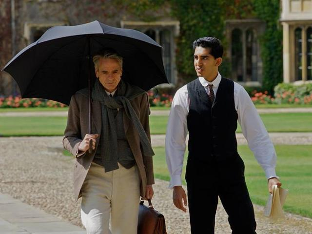 Jeremy Irons and Dev Patel in a scene from The Man Who Kew Infinity which is based on the life of Srinivas Ramanujan.