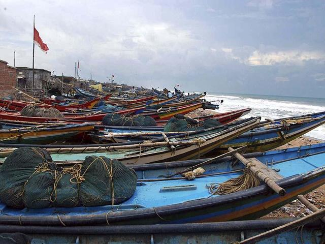 At least 16 Indian fishermen have been detained by the Sri Lankan Navy personnel for allegedly poaching into their territorial waters.