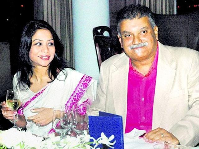 Indrani with her husband Peter Mukerjea.
