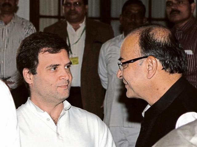 The BJP and the Congress said Arun Jaitley's visit was meant to invite Rahul Gandhi for his daughter's wedding.