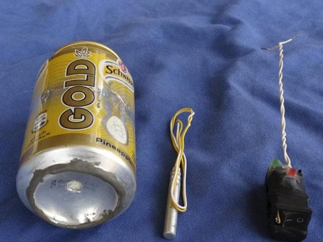 Islamic State's official magazine carried a photo on November 18, 2015 of a Schweppes drink it said was used to make an improvised bomb that brought down a Russian airliner over Egypt's Sinai Peninsula.