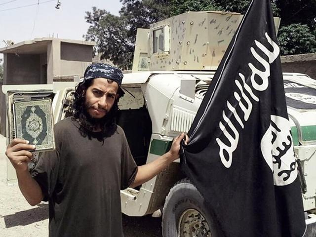 An undated picture purportedly shows 27-year-old Belgian IS group leading militant Abdelhamid Abaaoud.