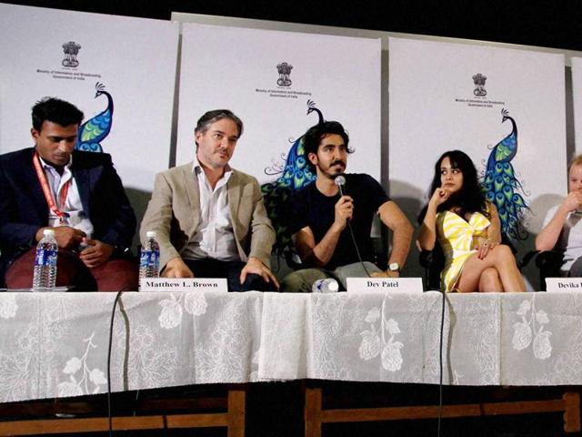 Actor Dev Patel, Director Matthew Brown and others at the 46th International Film Festival of India (IFFI-2015), in Panaji, Goa.