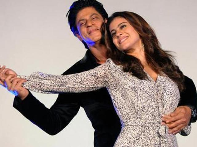 Shah Rukh Khan and Kajol Devgn attend the song launch for the upcoming Hindi film Dilwale in Mumbai. (AFP)