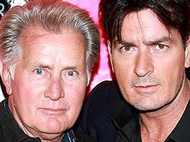 Martin Sheen with son Charlie.