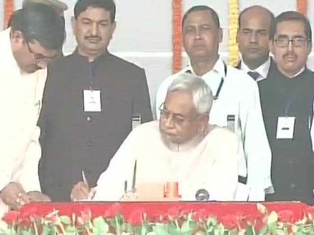 Nitish Kumar took oath as the chief minister of Bihar on November 20, 2015.