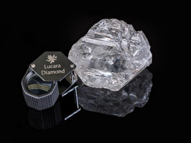 The magnificent stone, which originated from the south lobe of Lucara's Karowe mine in Botswana, is world's second largest gem quality diamond ever recovered and the largest ever to be recovered through a modern processing facility.