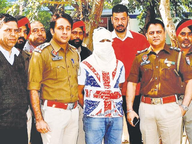 Accused Darbara Singh in the custody of Division Number 5 police in Ludhiana on Friday.