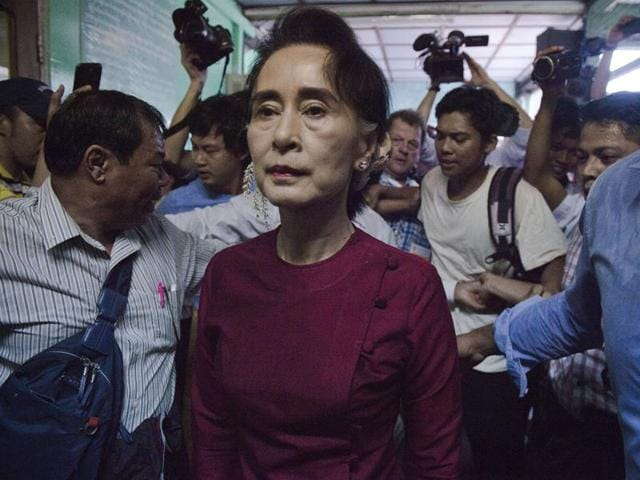 Myanmar's Aung San Suu Kyi has rebuked some politicians from her victorious National League for Democracy (NLD) for exceeding their internal election spending limit.