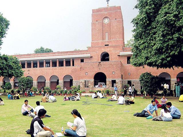 A file photo of Delhi University's St Stephen's college.