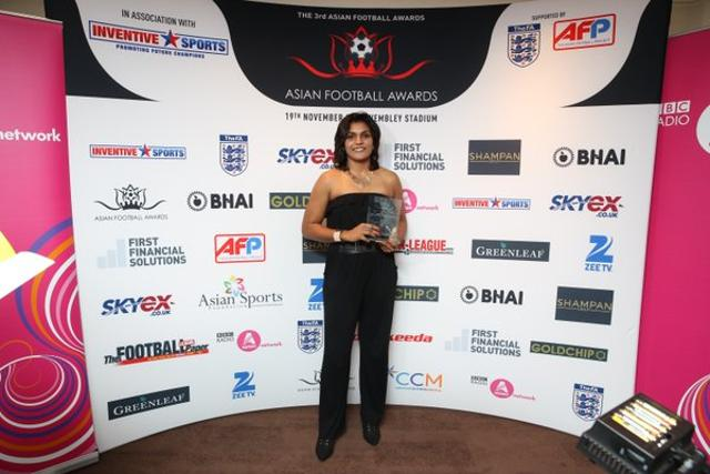 West Ham United goalkeeper Aditi Chauhan is the first Indian to be awarded the Asian Woman Footballer of the year.
