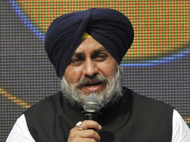 Punjab deputy chief minister Sukhbir Singh Badal