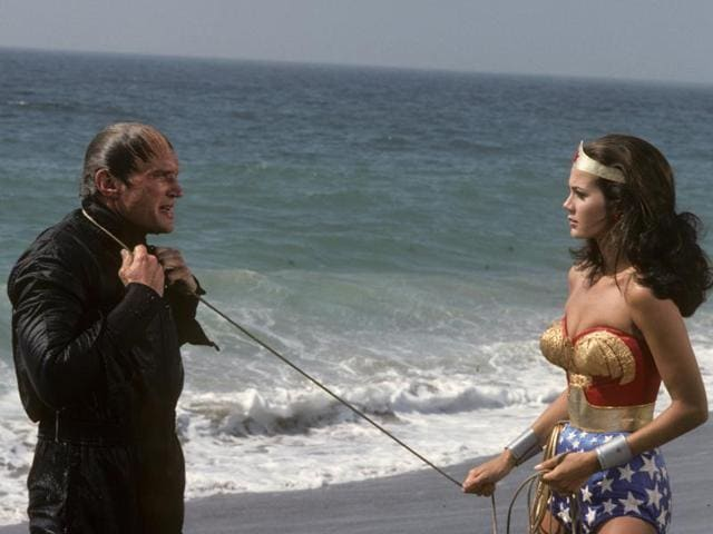 Wonder Woman teaches the guys to behave in the eponymous 1970s American TV series. Manjula Padmanabhan's novel depicts a radically different world.