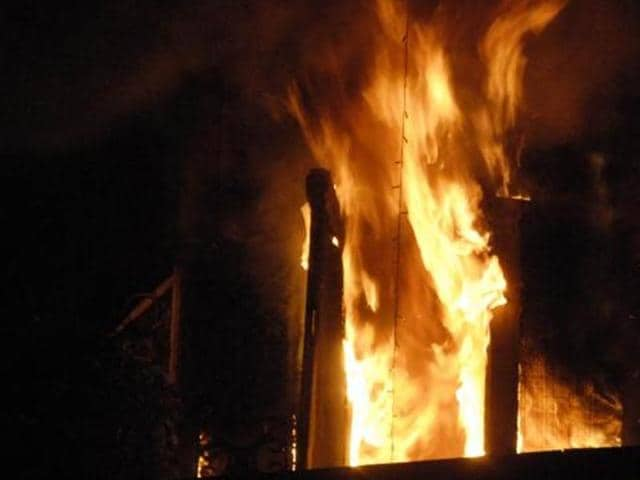Hundreds of people surrounded a chipboard factory in Jehlum city on Friday night and set the facility ablaze after reports surfaced that one employee had allegedly desecrated the Koran.  A file photo used for representative purpose.