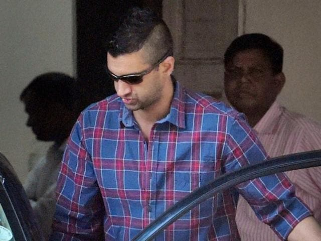 Rahul Mukerjea arrives for questioning by the CBI in connection with the Sheena Bora murder case in Mumbai on Friday.