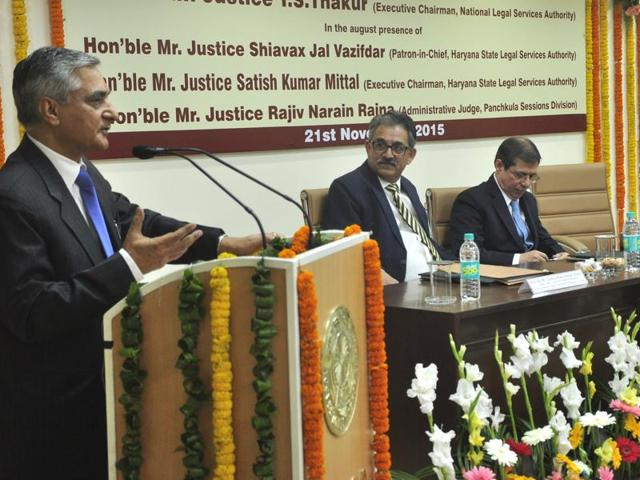 Justice Thakur was talking to journalists on the sidelines of inauguration of the Haryana State Legal Services Authority (HSLSA) building in Sector 14, Panchkula.