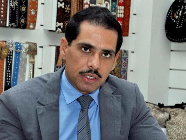 File photo of Congress president Sonia Gandhi's son-in-law, Robert Vadra.  Vadra has stated that he was being used as a political tool by the BJP.