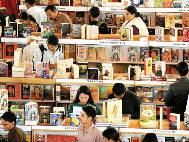 Visitors at the 2012 World Book Fair.