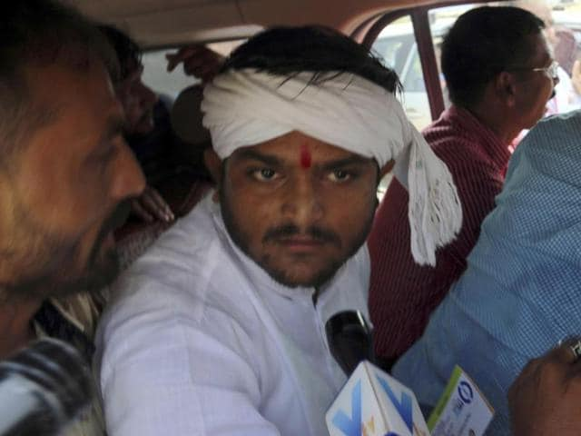 File photo of Hardik Patel.  Four months after he launched an agitation demanding OBC status for the Patidar community, the campaign has lost steam and its fate hangs in balance.