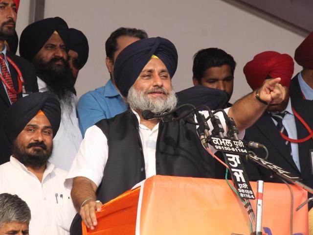 SAD-BJP led Punjab government held the first Sadbhawna rally scheduled at Bathinda on Monday.