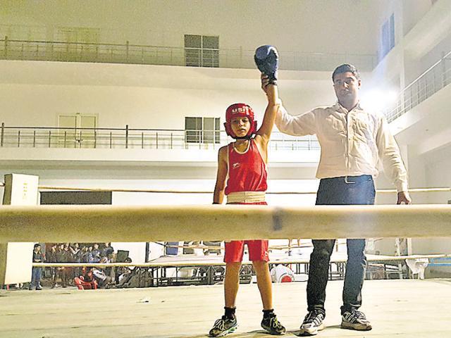 Yashwardhan Singh won gold in the 50th Haryana state boxing championship.