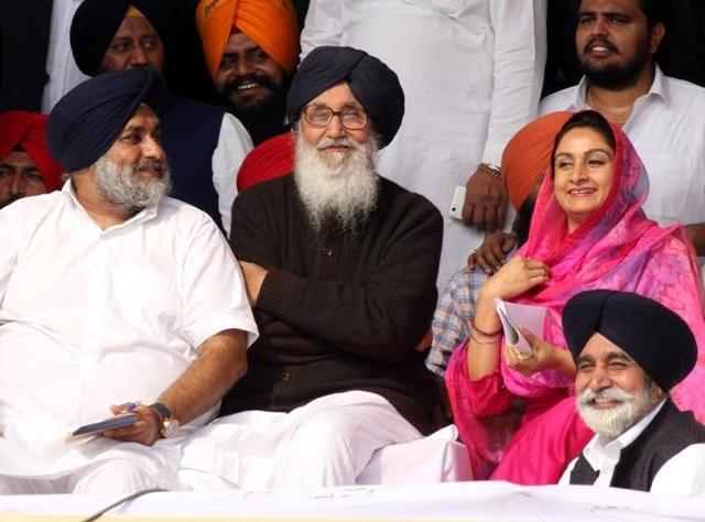 SAD,Sadbhawna rally,Parkash Singh Badal