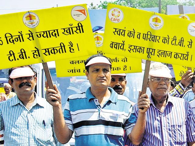 A TB awareness campaign rally in Dhanbad. Over 34000 to 35000 new TB case are found every year in Jharkhand.