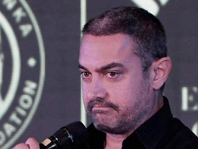 """File photo of Bollywood actor Aamir Khan and his wife Kiran Rao were spotted in Santacruz, Mumbai. Khan said he was """"alarmed"""" by the recent incidents in the country."""